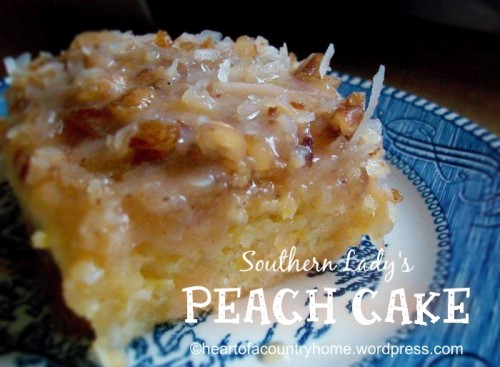 Southern Lady's Peach Cake