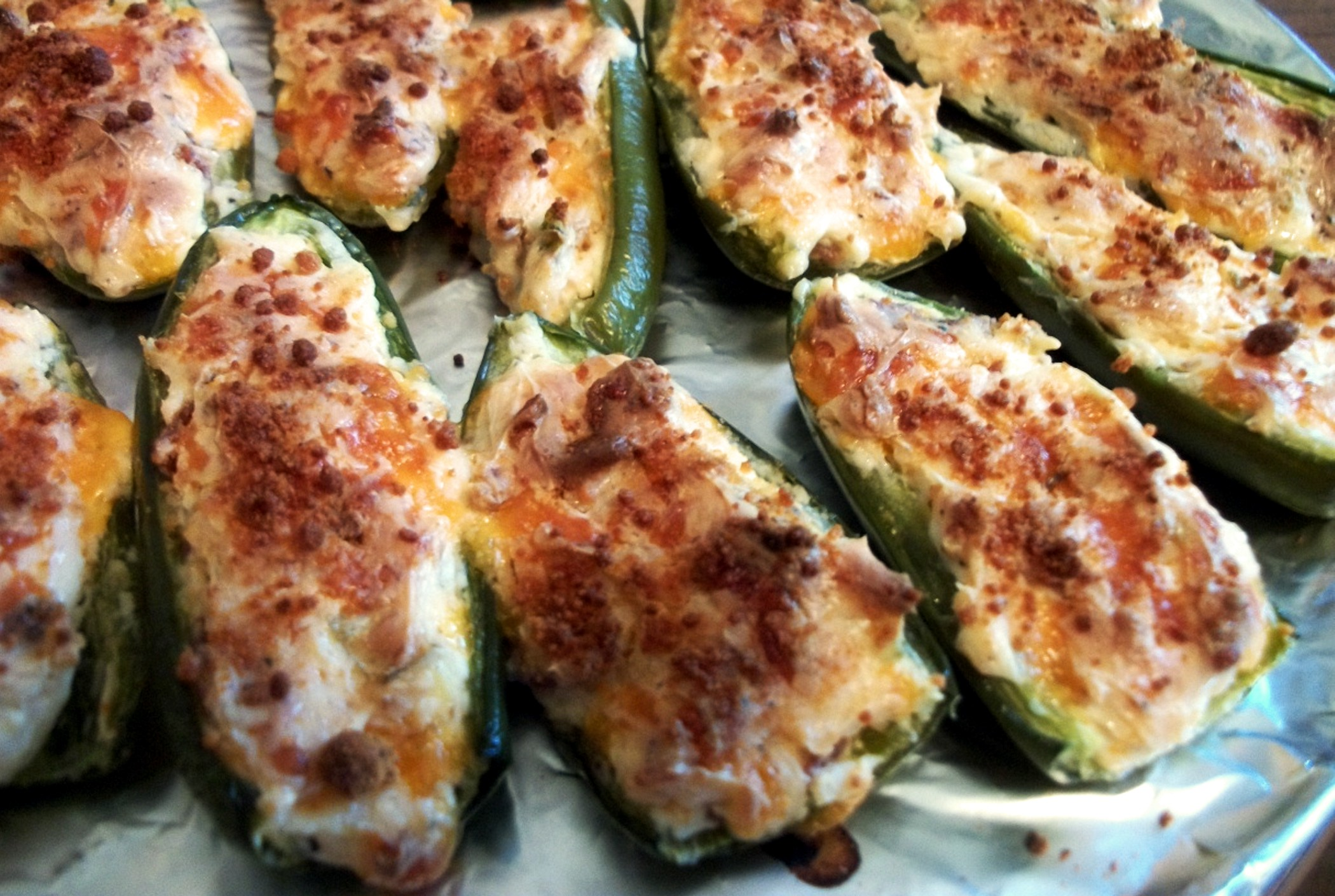 Cream Cheese & Bacon Stuffed Peppers aka Poppers! | Heart of a Country ...