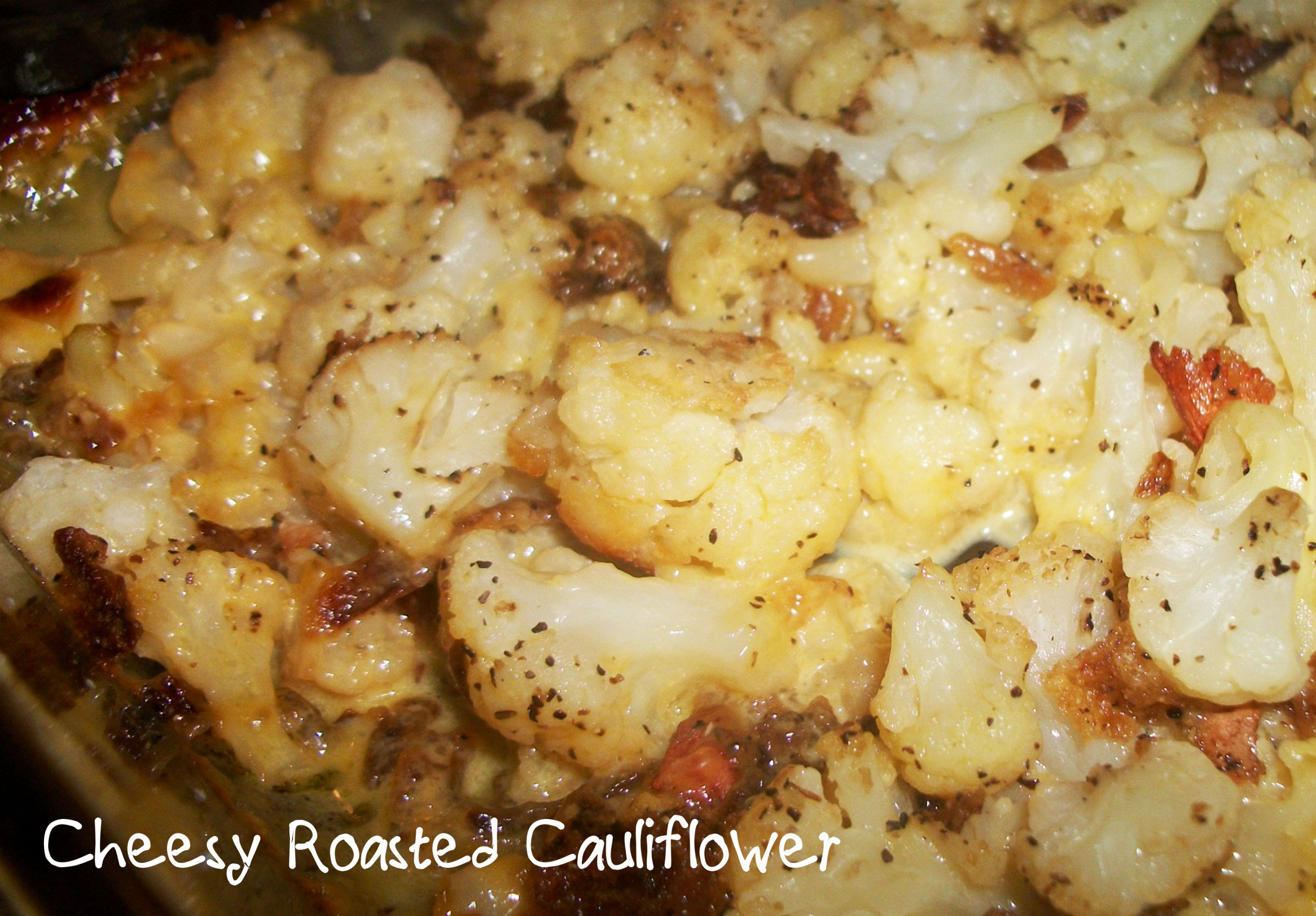 Cheesy Roasted Cauliflower with Bacon | Heart of a Country ...