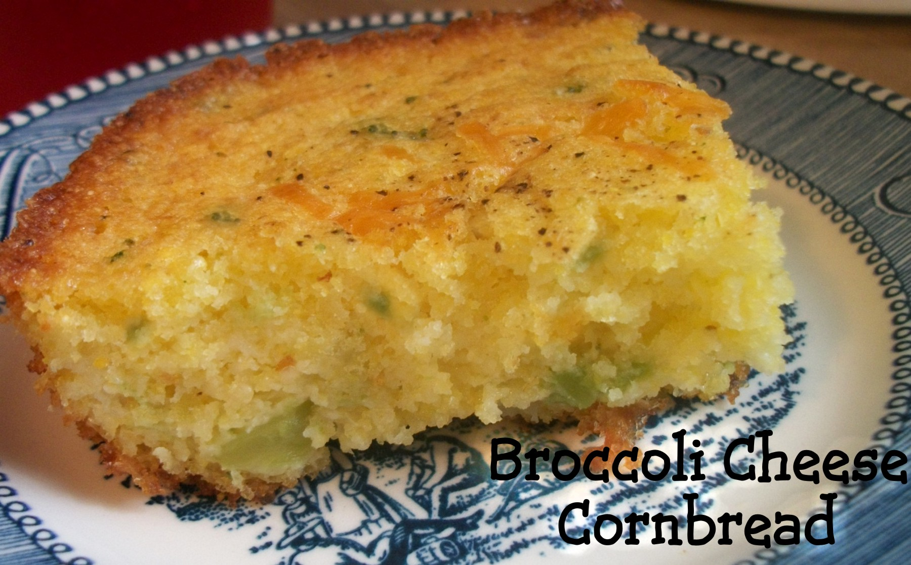 Broccoli Cheese Cornbread | Heart of a Country Home