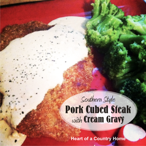 pork steak and gravy