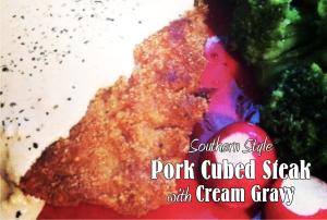 pork steak and gravy