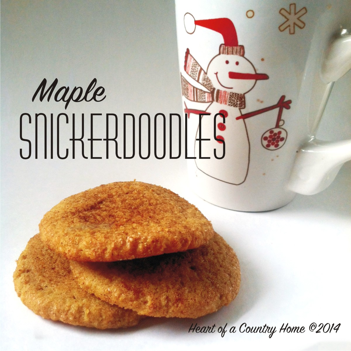 Maple Snickerdoodles ~ Low Carb • Grain Free • Sugar Free
