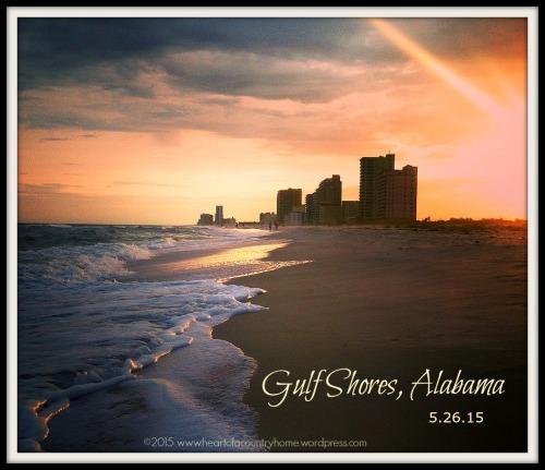 Gulf Shores sunset framed