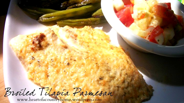 Broiled Tilapia Parmesan | Heart of a Country Home