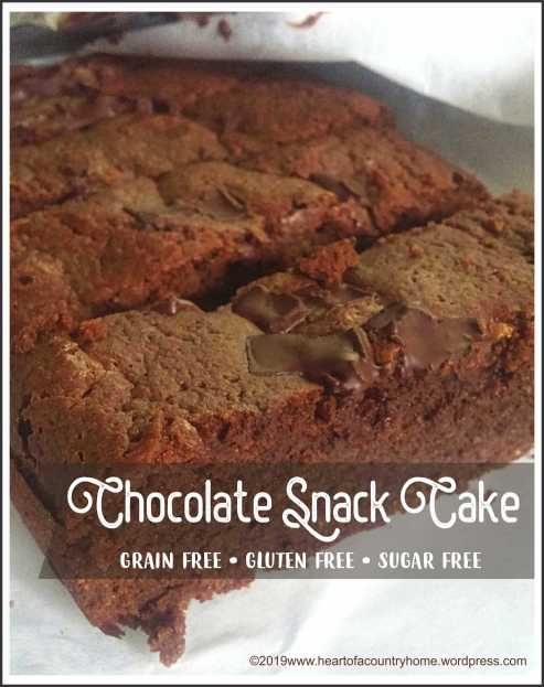 triple chocolate snack cake low carb and sugar free
